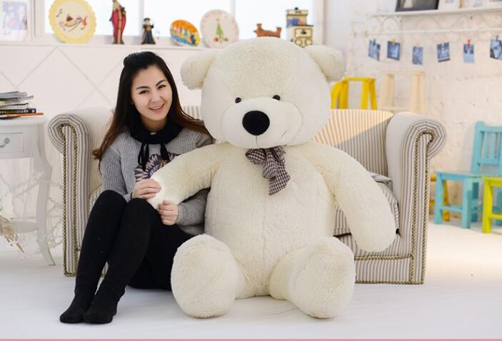 Factory direct New 160cm 1.6m giant teddy bear plush toys children soft peluches baby doll big stuffed animals birthday gift(China (Mainland))
