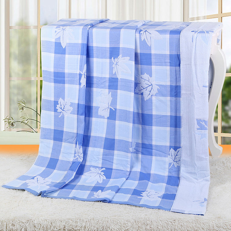 Vosges jie yu fashion tour pure cotton towel towel blanket, double color squares increases good mood in the summer of 150*200(China (Mainland))