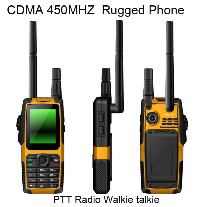Original CDMA 450Mhz EVDO Waterproof cell phone shockproof Radio Walkie Talkie phone cdma gsm dual mobile phones VHF Phone(China (Mainland))