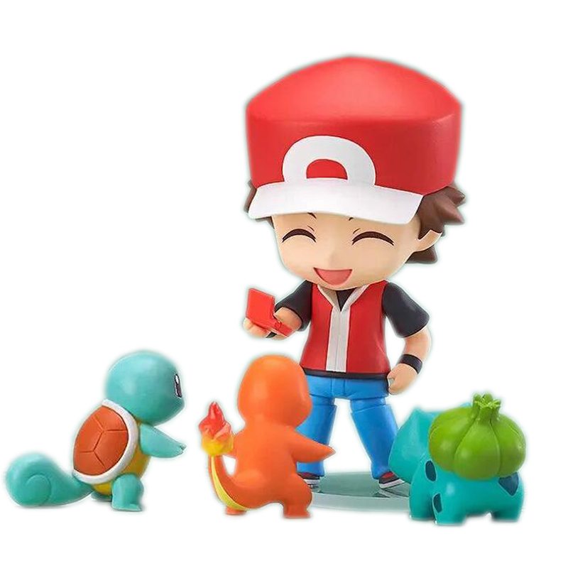 Nendoroid Pokeball Ash Ketchum Zenigame Charmander Bulbasaur Reshiram Action Figure Toy Squirtle Red Anime Collectible Model #E(China (Mainland))