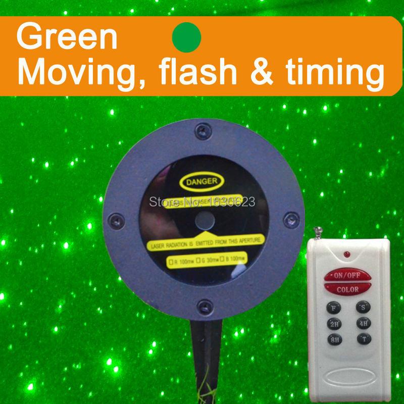 Moving patter Starry Christmas light, laser holiday decorative light, sparkle magic green laser light projector<br>