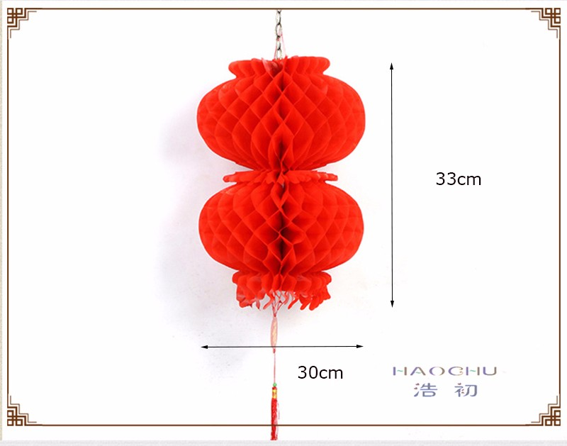 Chinese style Traditional Red Plastic Paper Honeycomb Lanterns Happy New  Year Handicraft Garden Home Decor Chinatown Festival - us105