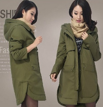 2015The New Women's Clothing Han Edition Cotton-Padded Clothes Coat Long Big Yards More Loose Tooling Down Cotton-Padded Jacket