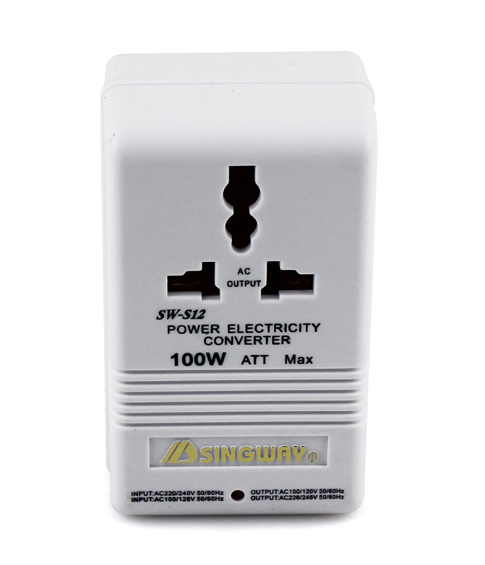 100W US AC Power Converter Voltage Converter Adapter 110/120V to 220/240V Q0058B(China (Mainland))