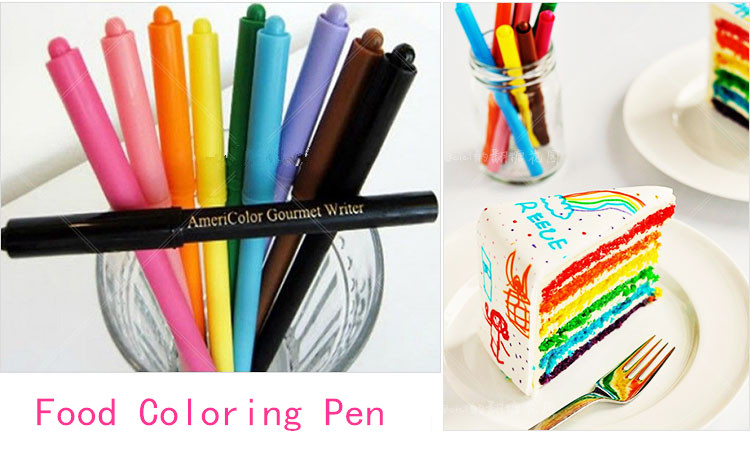 2018 Food Coloring Pen Fondant Cake Cookie Tool For Drawing ...