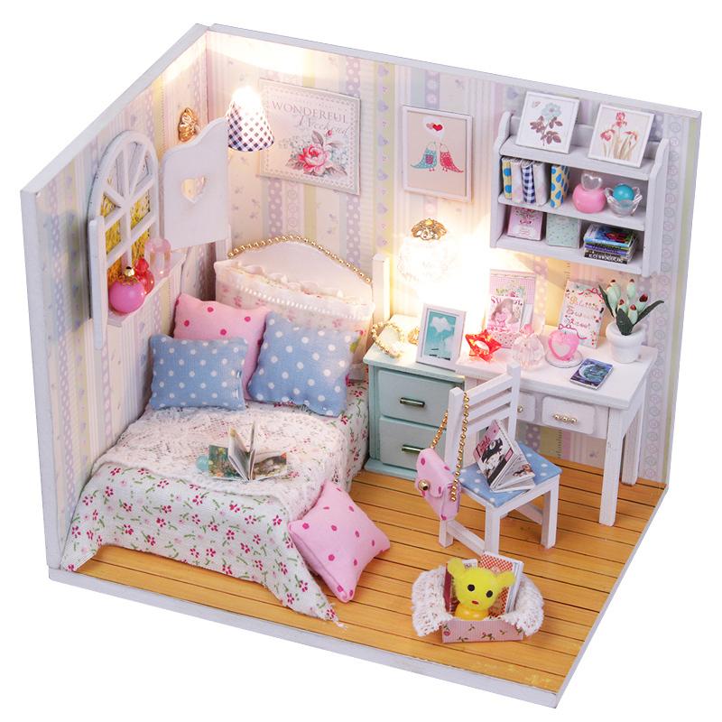 Bricolaje casa de mu ecas en miniatura adalelle de hechos for Casa de juguete para jardin segunda mano