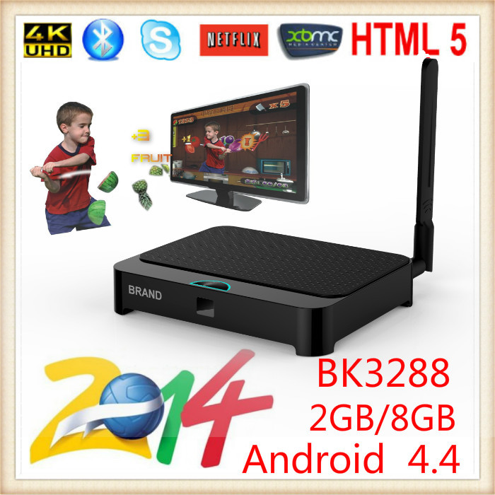 Quad Core RK3288 Android TV Box EKB328 Ultra HD 4K HDMI WIFI 2G / 8G Midea player Support Android Market Google Play & 3D gaming(China (Mainland))
