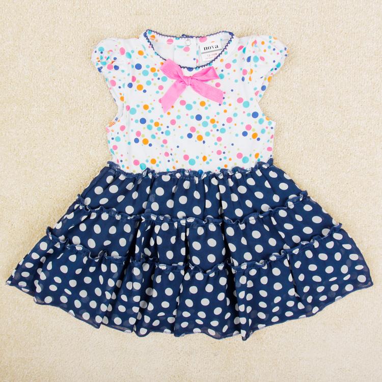 flower Baby girl dress nova kids girls party Princess Dresses for girls summer dress kids clothes brand children clothing H4706