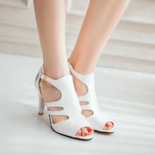Big Plus Size 34-52  shoes women sandals 2016 red bottom high heels sandals summer  summer shoes chaussure femme 9898(China (Mainland))