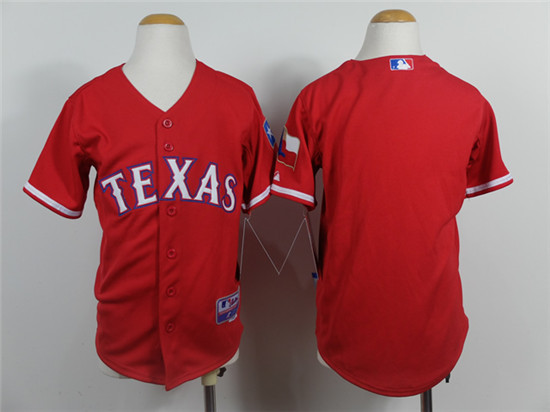 Youth Texas Rangers Jersey Red Baseball Jerseys,TOP Quality,S~XL,Cheap Wholesale(China (Mainland))