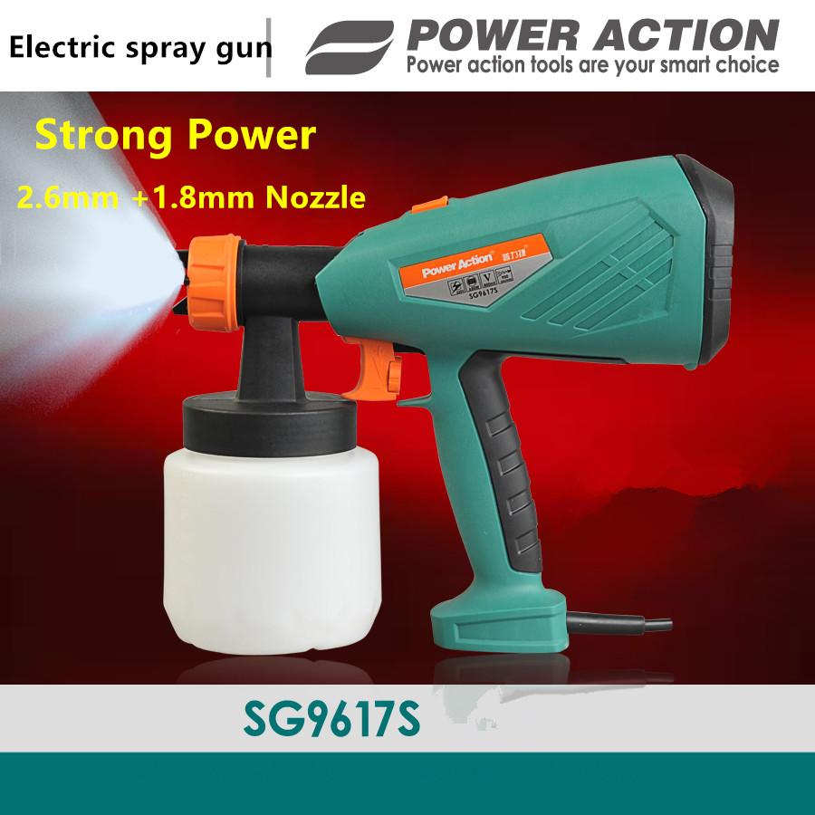 650w Electric Spray Gun Paint Spray Gun 800ml DIY electric spray gun HVLP sprayer with 1.8 /2.6mm nozzle Power Paint Sprayers(China (Mainland))