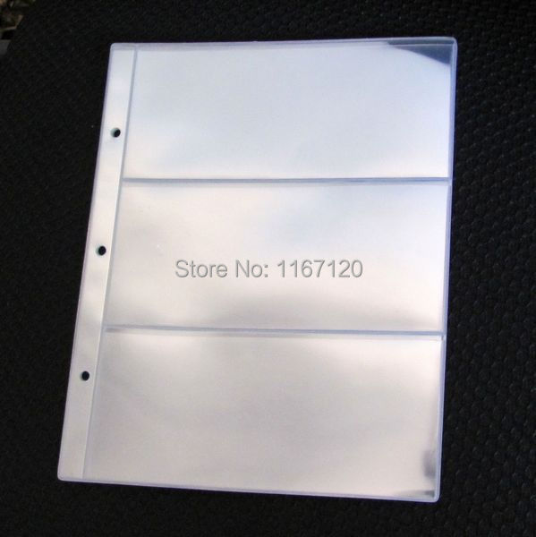 Free shipping,5pcs/lot 3 Pockets clear Currency Paper Stamp Protector Insert Pages Sheets Holder Home Decoration 18*7.8cm MP06-5(China (Mainland))