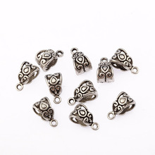 Buy 30pcs 10x7mm bail EUROPEAN HANGERS SPACERS Tibetan Silver Pendant Charm Bail Connectors fit necklace for $1.87 in AliExpress store