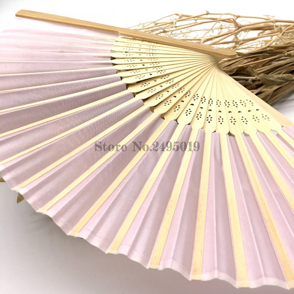 1pcs Luxurious Silk Fold hand Fan in Elegant Laser-Cut Gift Box (Black; Ivory ; pink) +Party Favors/wedding Gifts