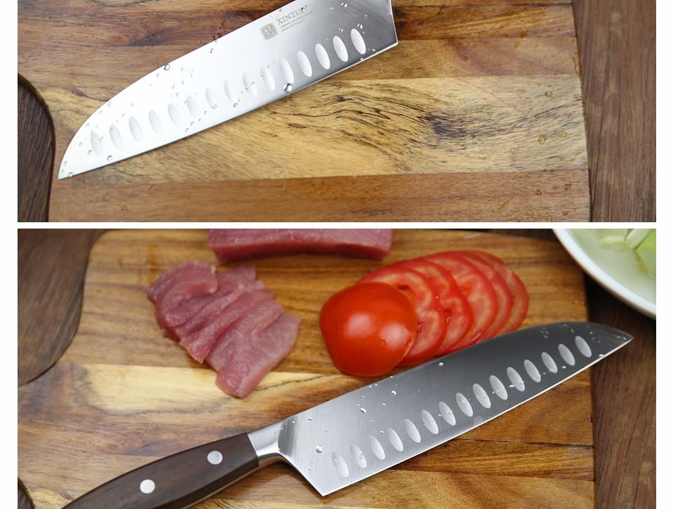 Buy XINZUO 7 inch Japanese chef knife German steel kitchen knife super sharp santoku knife rosewood handle kitchen tool free shiping cheap