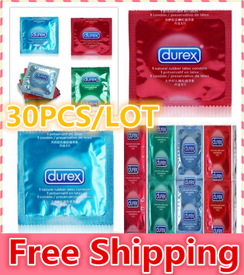 30 pcs / lot Durex Condoms Sex Products Sex Durex Condoms Condones Contex Camisinha Adult Product Red Blue Green Free Shipping(China (Mainland))