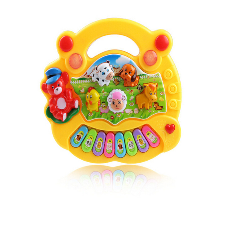 Children's Animal Farm music piano keyboard baby child early childhood toys Enlightenment(China (Mainland))