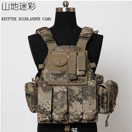Mandrake Airsoft 1000D Molle US Navy Seals Combat Hunting vest + 10 pouches Paintball Assault Medical Radio Pouch bag - Tactical's store