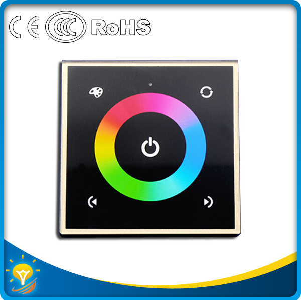 NEW DC12V 192W DC24V 384W 4Channel Touch Panel Controller RGB LED Controller(China (Mainland))
