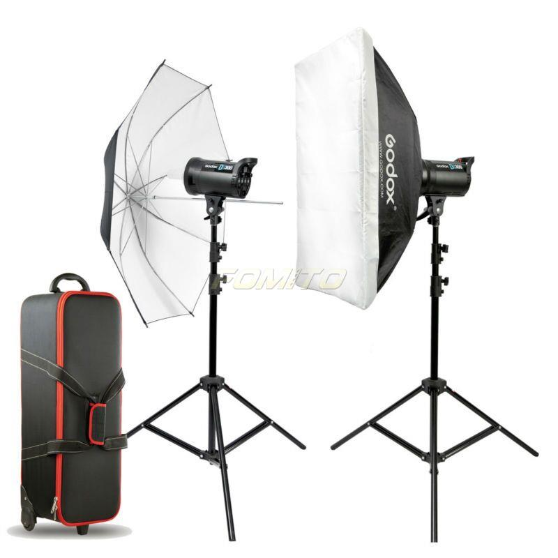godox ds200 e 2pcs ds series studio flash kit video photo. Black Bedroom Furniture Sets. Home Design Ideas