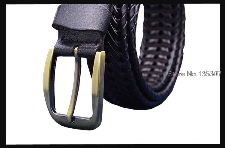 Genuine leather belt male Braided strap for man Fashion Designer mens belts luxury 2015 High quality girdle for jeans men 120CM