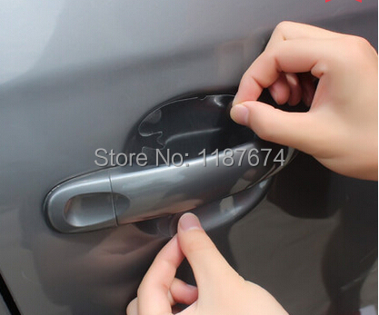 8PCS/LOT car handle protection film car exterior automotive accessories+FREE SHIPPING(China (Mainland))