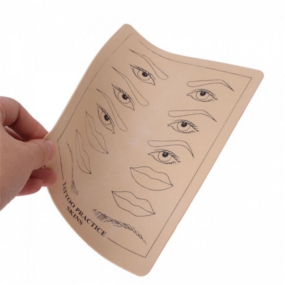 Top quality permanent makeup eyebrow lips tattoo practice for Practice skin for tattooing