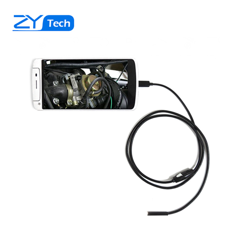 Hanheld 1m Android Endoscope with 7mm Cable 6LED Waterproof Lens HD Pinhole Camera Inspection Borescope for Android Phone Tablet(China (Mainland))