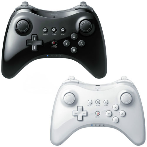 2PCS/LOT FREE SHIPPING Black White Best NEW Arrival Wireless Classic Pro Controller Gamepad For Nintendo For WiiU &USB Cable(China (Mainland))