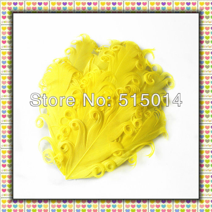 Wholesale !Free Shipping+Mixed Color +Top Quality Curly Goose Feather Pad ,Nagorie Feather Pad(China (Mainland))