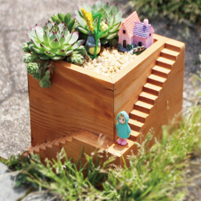 Flower pot garden decoration ornaments cartoon micro for Garden decking ornaments