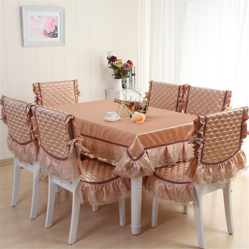 2015 new euorpen style classic dining table cloth set silk