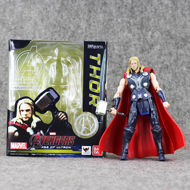 Hot selling 16cm S.H.Figuarts THOR Marvel Avengers Age of Ultron PVC Action Figure Collection Toy(China (Mainland))