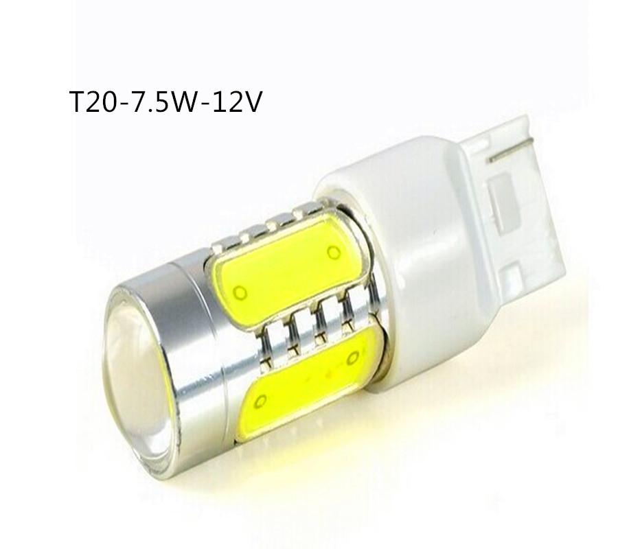 led 7.5 W T20 Led Sinais Volta Branco Amarelo 5 Cob Led Chip E A Lente 7440-COB Perfect lamp, high quality, trustworthy.(China (Mainland))