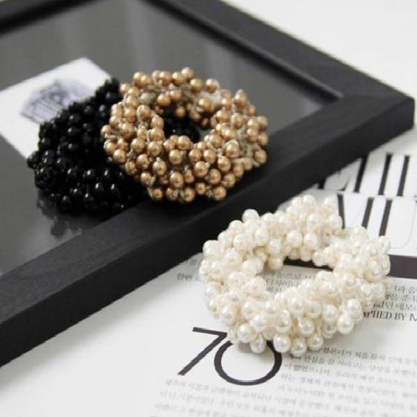 Women hair Accessories Hair Ornaments Craft woven beads elastic hair ring Headband Hair rubber(China (Mainland))