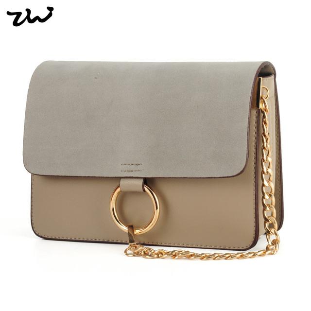 Ziwi марка лоскутная сеть сумки замша и искусственная кожа Высокое качество мода ...