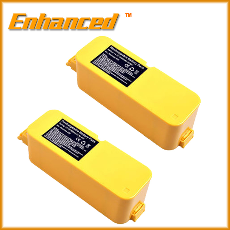 ENHANCED 2pcs 3Ah Vacuum Cleaner Battery for iRobot Roomba 4905 4000 4130 4230 Discovery free shipping(China (Mainland))