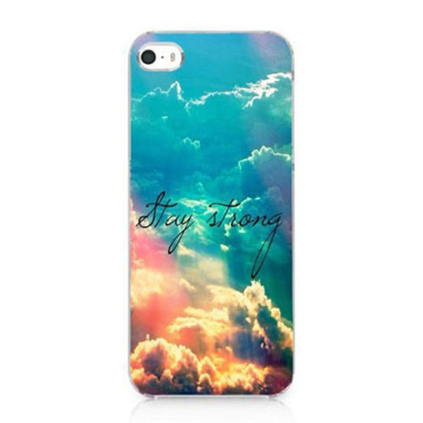 Retail Altitude Clouds Stay Strong Design Custom Painted Hard Plastic Protective Phone Case Cover Iphone 4 4S 5 5S SE 5C - FashionPhoneCase store