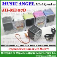 MD07D Portable Speaker Original MUSIC ANGEL Support  TFcard, FM radio+use as TFcard reader+original quality Super Bass speaker