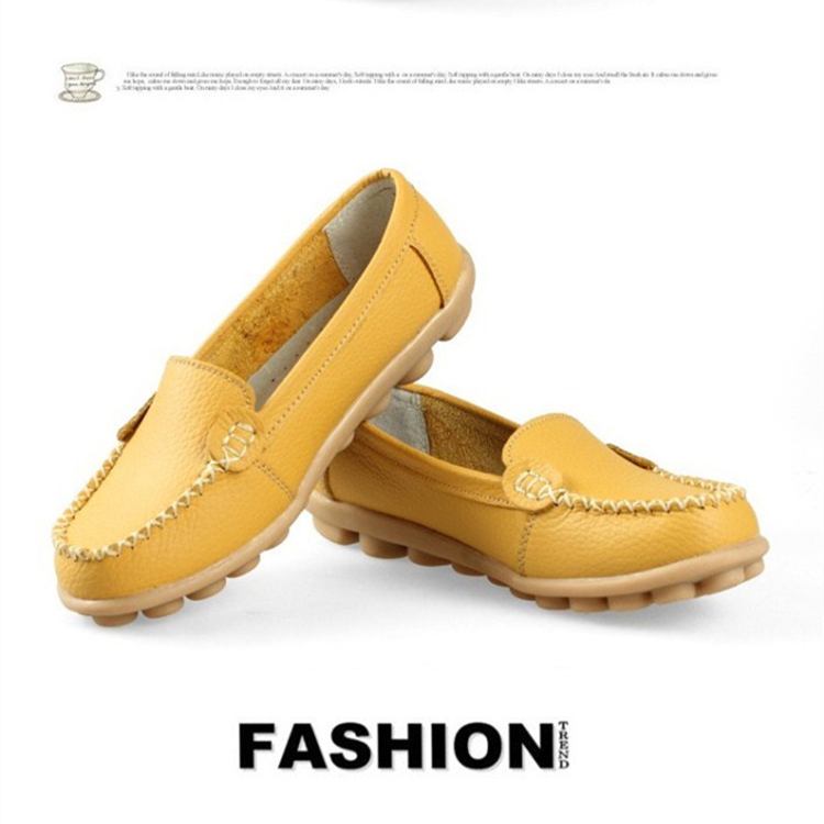 2014 autumn shoes mother work shoes genuine leather women shoes big size moccasins Anti-skid oxford boat shoes for women 1034<br><br>Aliexpress