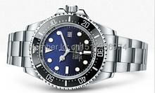 2014 nuevos hombres de regalos de lujo del reloj de cerámica automático bisel aguas profundas original oyster perpetual acero esfera azul negro
