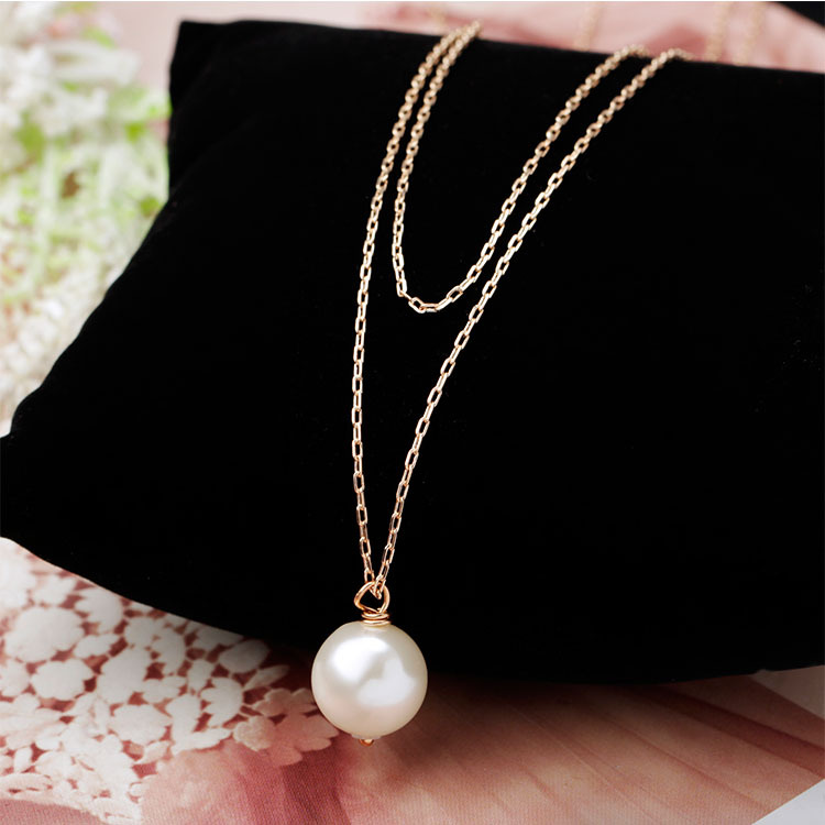 NewCollares Fashion collares mujer simple elegant imitation pearl long necklace chain jewelry Girls bijoux necklaces & pendants(China (Mainland))