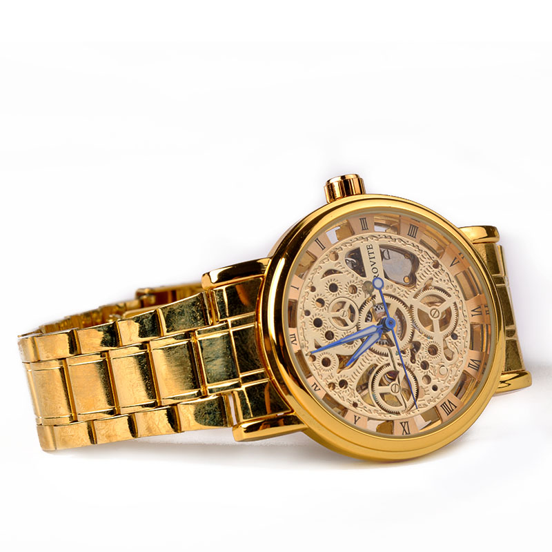 New Famous Casual Stainless Steel Men Mechanical Watch hollow out Watch For Men Dress Wristwatch X60
