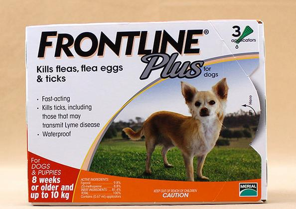 2014 new packaging Frontline Plus L Dogs 0-10kg Dog Flea and Tick Remedi 1box free shipping(China (Mainland))