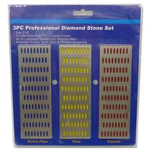 3pc LARGE Diamond Sharpening Hone Stone Whetstone Sharpening Block Kitchen Knife Garden Shears Scissors Chisels Sharpening(China (Mainland))