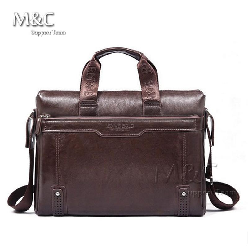 2015 Men Genuine Leather Briefcase Messenger Bags Men Bag For Notebook Nen Shoulder Bag Brand Leather Office Bags SD-175(China (Mainland))