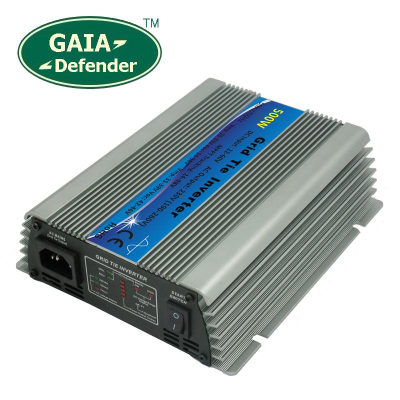 500W MPPT Solar Power Grid Tie Inverter DC 22V-60V to AC 190V -260V 220V 230V 240V(China (Mainland))