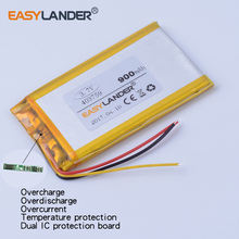 Buy 403759 3.7V 900mAh Rechargeable li Polymer Li-ion Battery MP3 MP4 DVR Toys GPS PSP PDA 3-wire 383759 for $8.54 in AliExpress store