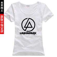new 2016 free shipping cotton sitcoms rock band Linkin Park woman women female sports cotton short-sleeve T-shirt