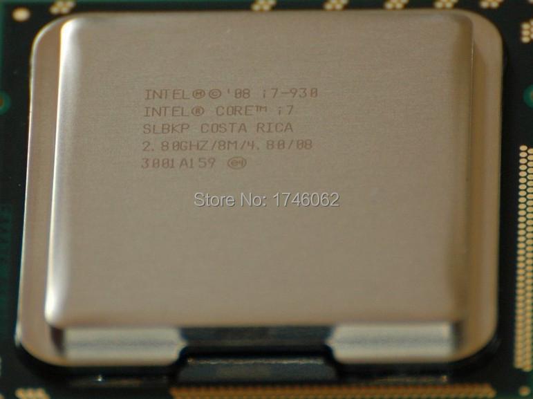 Original Quad-Core I7-930 CPU Desktop Processor i7 930 8M Cache 2.8 GHz 4.80 GT/s QPI FCLGA1366 LGA1366 Computer CPU Free Ship(China (Mainland))